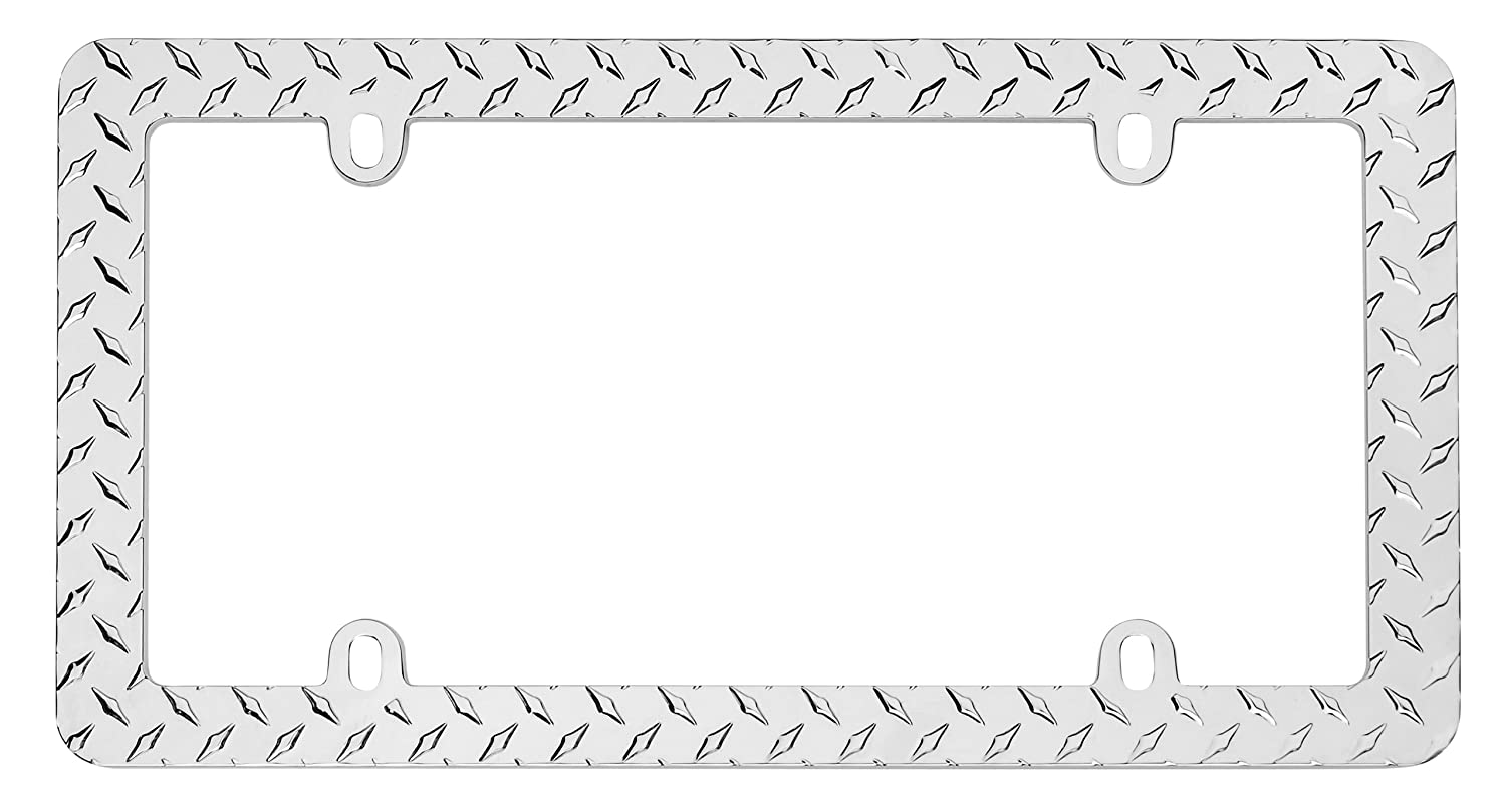 Amazon.com: Cruiser Accessories 30830 Diamond Plate License Plate ...