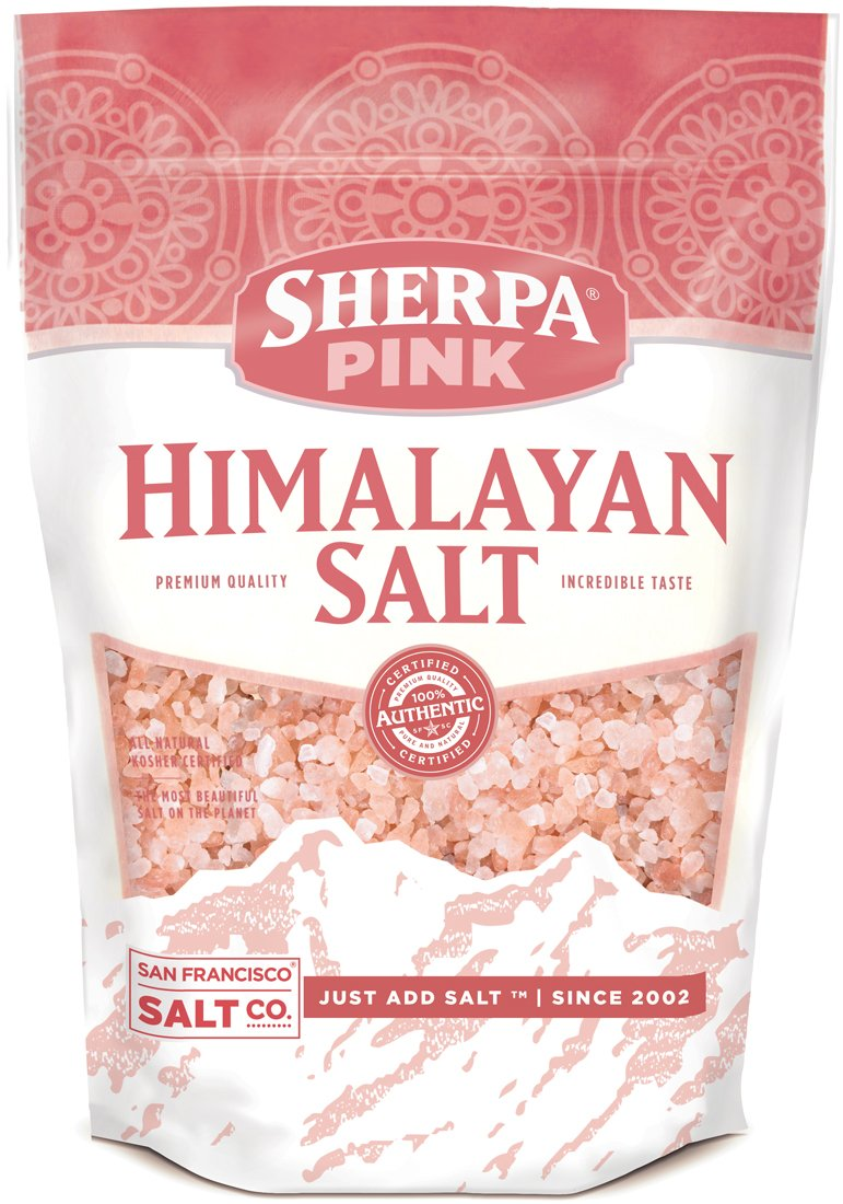 Sherpa Pink Gourmet Himalayan Salt, 5lbs Coarse/Medium Grain.