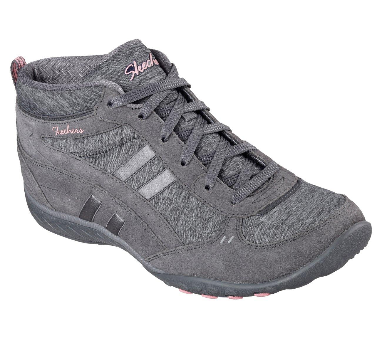 Skechers Sport Women's Breathe Easy Shout Out Fashion Sneaker  7.5 B(M) US|Charcoal