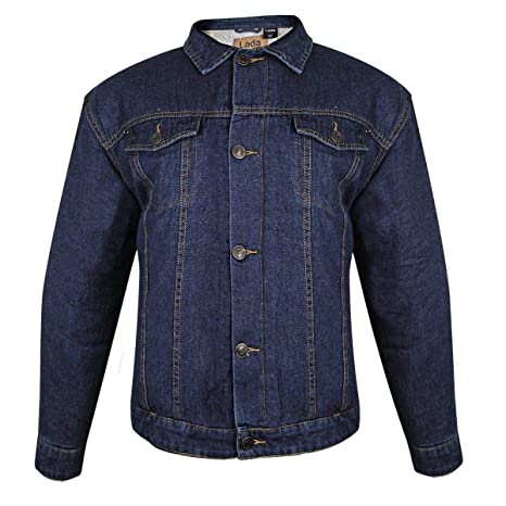 984220077887 Amazon.com: Lada Traditional Mens Western Dark Blue Denim Jacket - Small:  Automotive