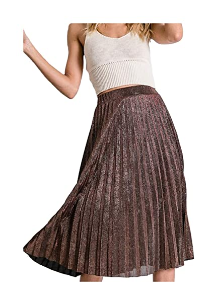 Knee Length Pleated Skirt