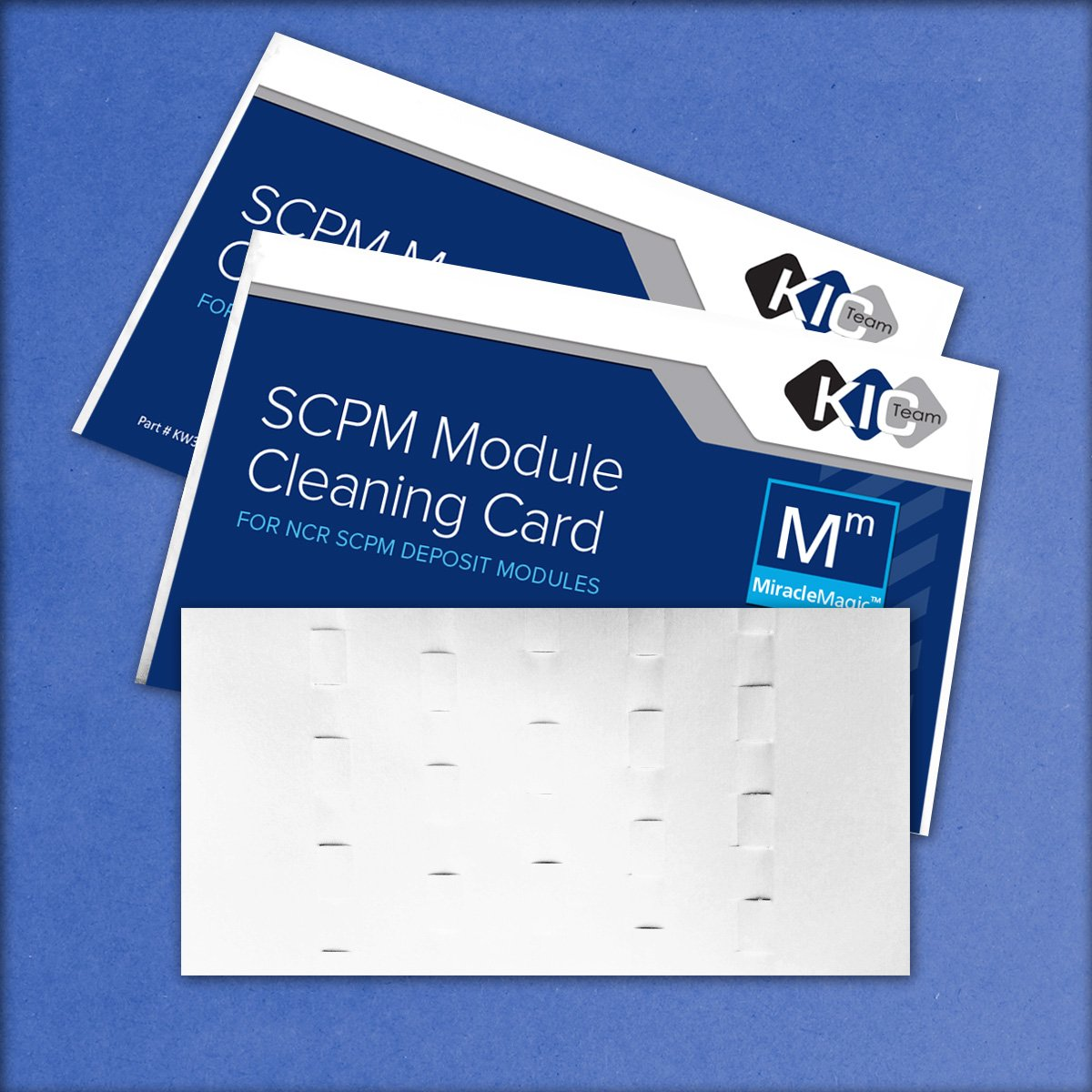 SCPM Module Cleaning Card For NCR SDM Deposit Module (15 Cards) (15) by Waffletechnology