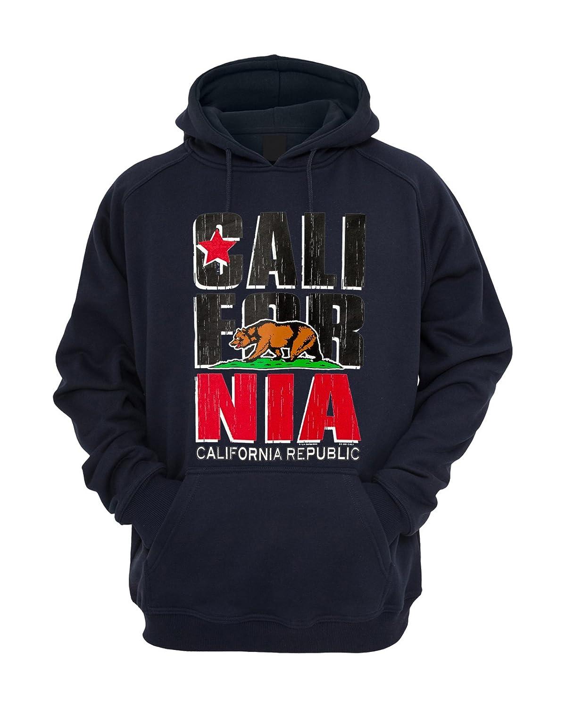 c21c2f06 Amazon.com: California Republic Design Hooded Sweatshirt Pullover Hoodie:  Clothing