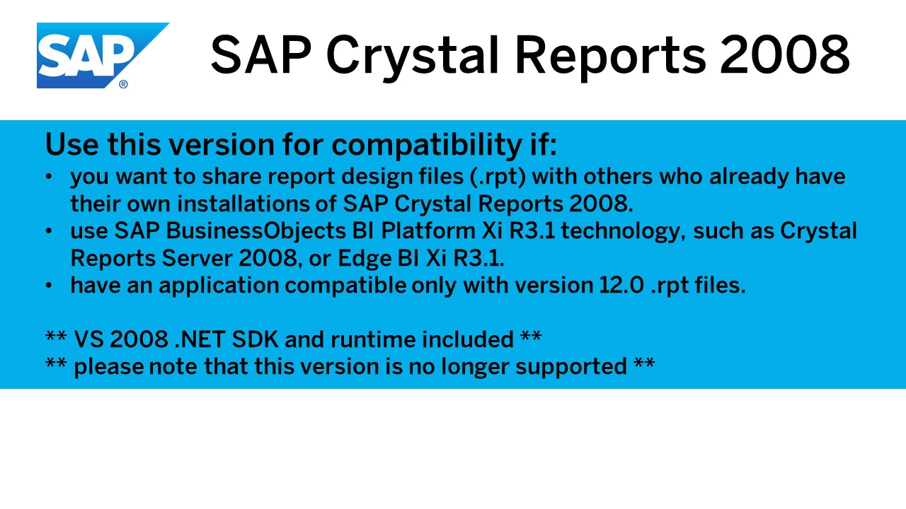 Amazon com: SAP Crystal Reports, 2008 [Download]: Software