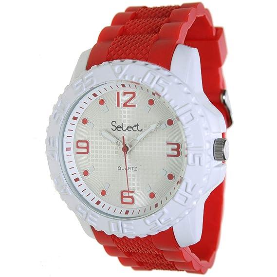 Select Fr-25-1 Reloj Analogico para Hombre Caja De Metal Esfera Color Plateado: Amazon.es: Relojes
