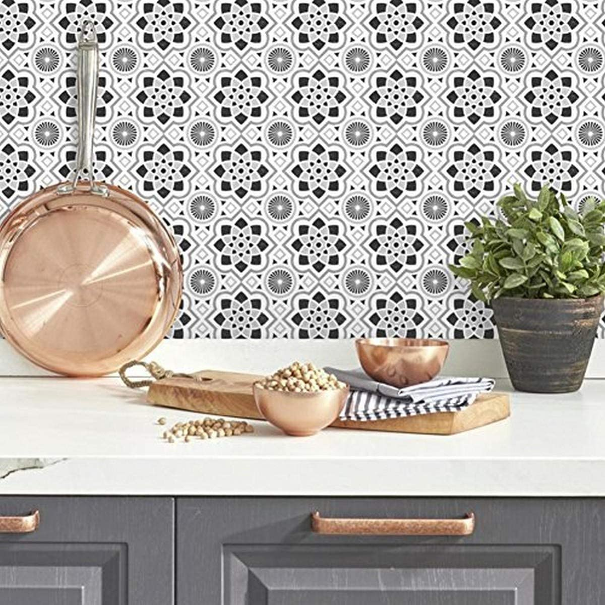 RoomMates Spanish Tiles Peel And Stick Giant Wall Decals