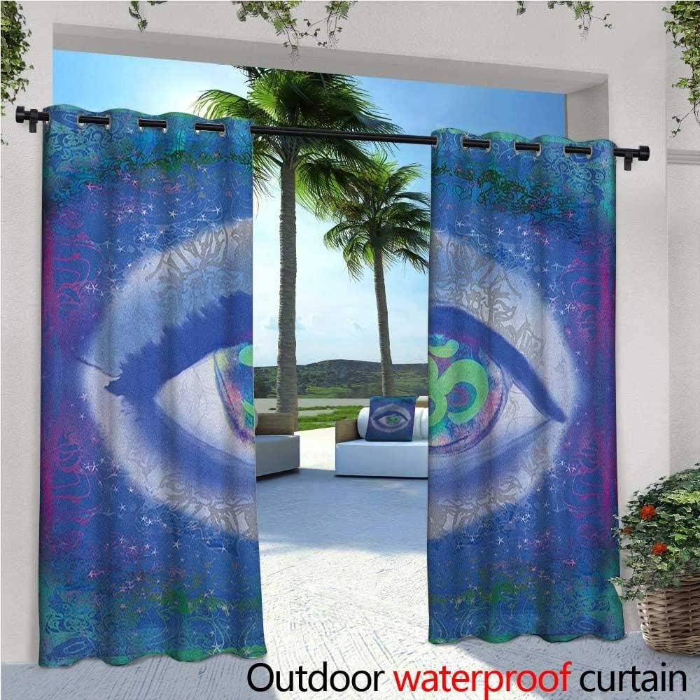 Cortina de privacidad para exteriores con ojo para pérgola diseño mecánico de una maquinaria de ojo Complex con tecnología de ingeniería temática térmica aislante repelente al agua Drape para balcón gris turquesa