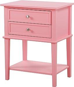 Glory Furniture Newton Nightstand, Standard, Pink