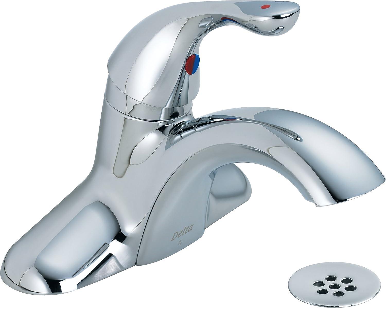 Delta Commercial 523LF-HDF Classic Single Handle Centerset Bathroom ...