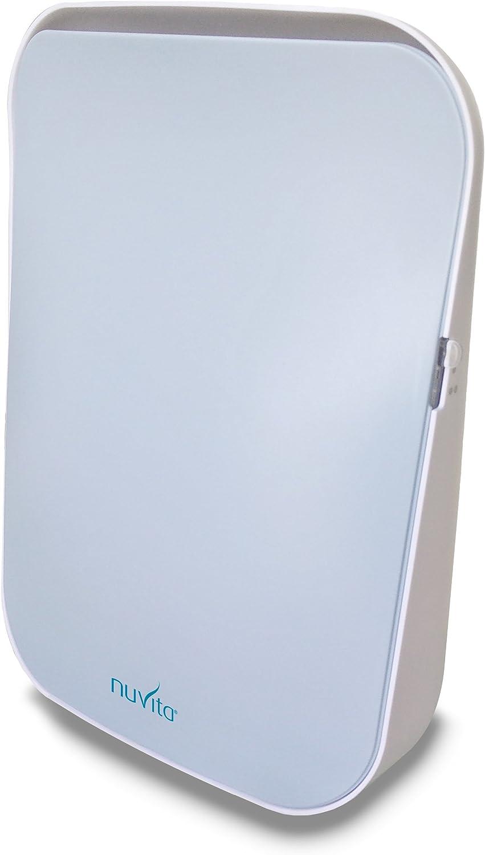 Nuvita Purificador de Aire Ionizador 1850 - Filtro HEPA Auténtico y Filtro de Carbón Activado - Elimina el Polvo Fino (PM 10 y PM 2,5), Polen, Alérgenos y Humo del Aire - Ideal para Toda la Familia