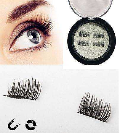 534e1a7c3f1 Magnetic False Eyelashes, 2 Pair 8 Pieces Ultra Thin Fake Eyelashes for  Natural Soft Makeup