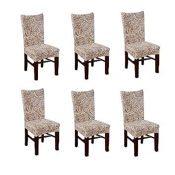Amazonde Nibesser 6stuhlhussen Stretch Stuhlbezug Dekoration