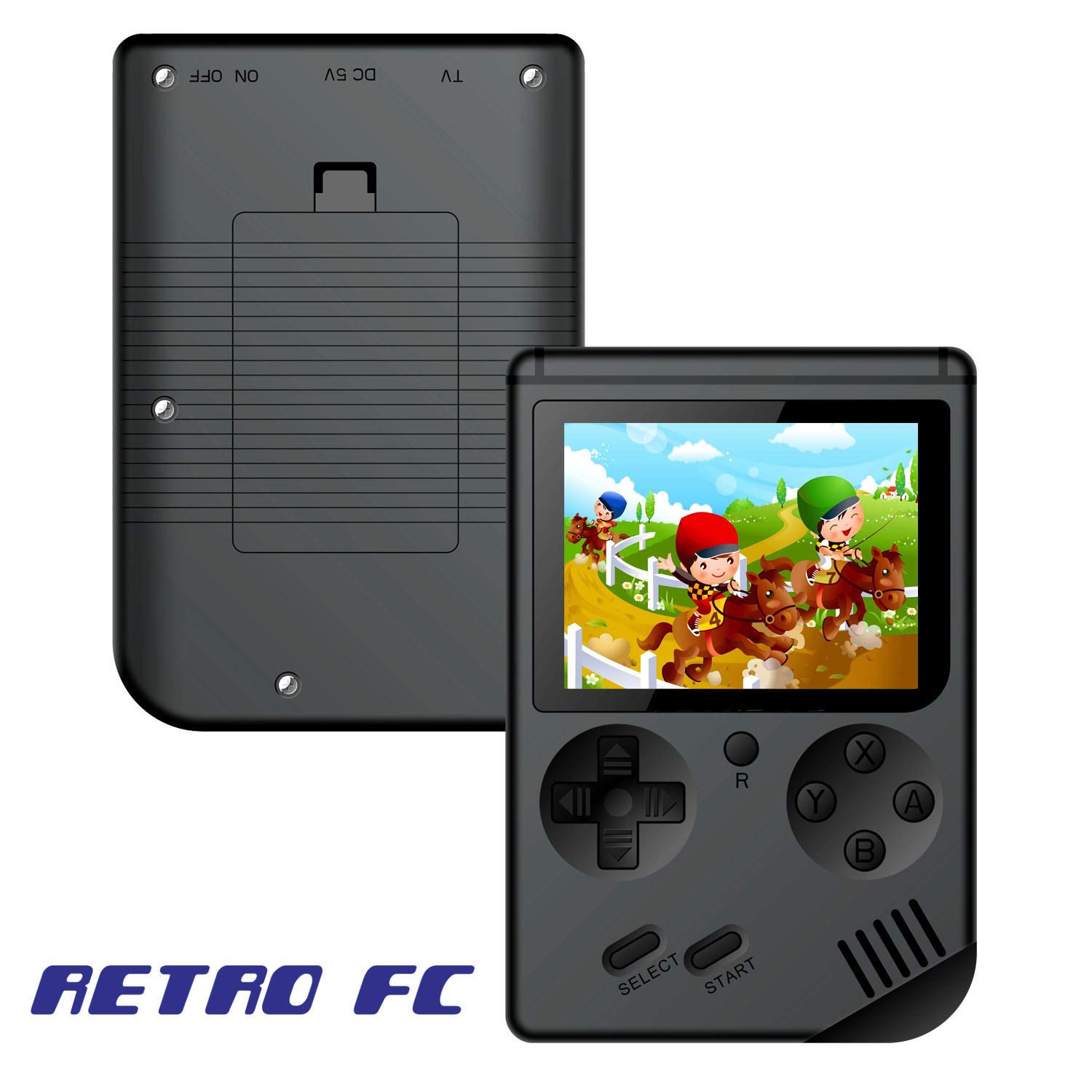 Handheld Games Console for Kids Adults - Retro Video Games Consoles 3 inch Screen 168 Classic Games 8 Bit Game Player with AV Cable Can Play on TV (Black) by Chilartalent (Image #2)