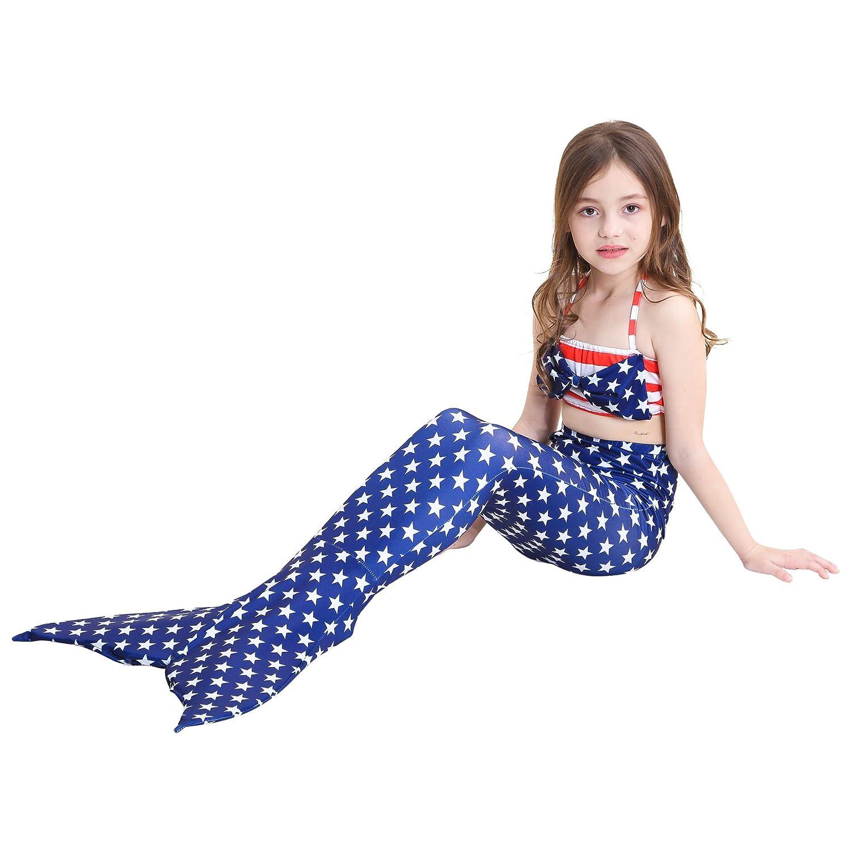 UniDesign Meerjungfrau Flosse Zum Schwimmen Schwimmen Schwimmen Meerjungfrau Schwanz mit Flosse mit Bikini für Kinder Mädchen B07DL1D8Q6 Bikinis Lassen Sie unsere Produkte in die Welt gehen 00a28d