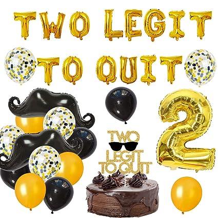 Amazon.com: Decoración de cumpleaños para niños, dos legitos ...