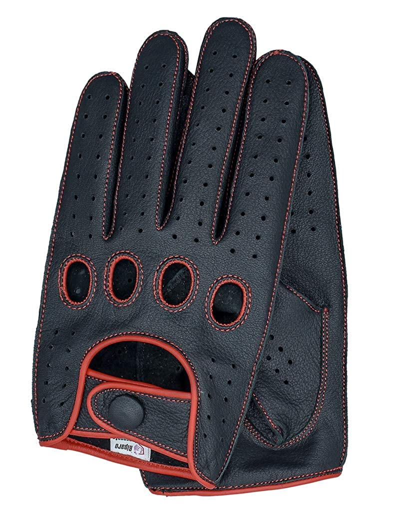 Riparo Mens Reverse Stitched Touchscreen Texting Leather Driving Gloves