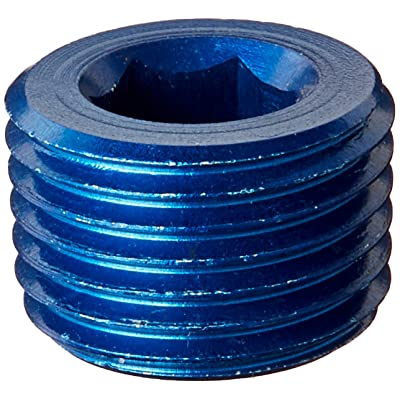 "Aeroquip FCM3685 Blue Anodized Aluminum 1/8"" NPT Allen Head Pipe Plugs - Pack of 2: Automotive"