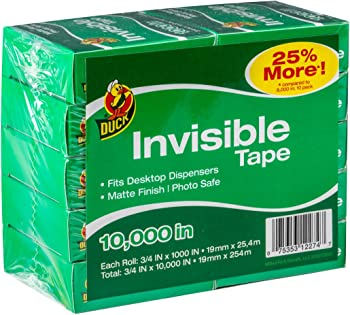 10-Pack Duck Brand Matte Finish Invisible Tape
