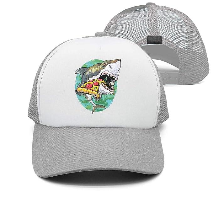 11ee99c2b2d ASWEQ Shark Eat Delicious Pizza Hats for Women Cotton Baseball Team Cap