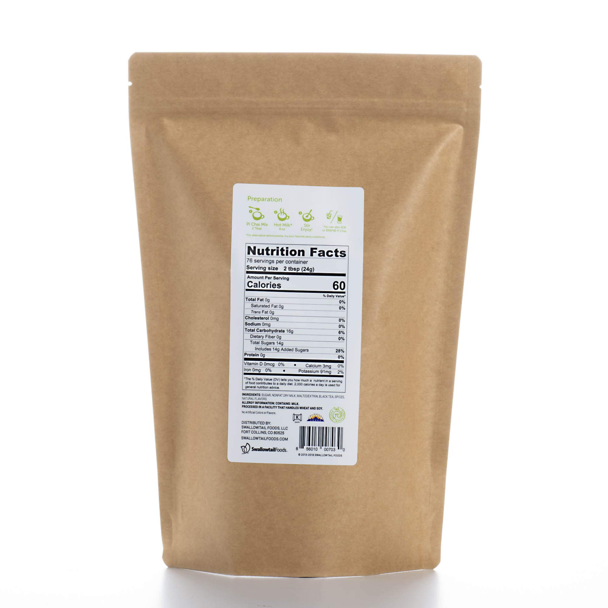 Pi Chai Original, Chai Tea Latte Mix, Black Tea, Exotic Spices, 4.02 Pound by Pi Chai (Image #2)