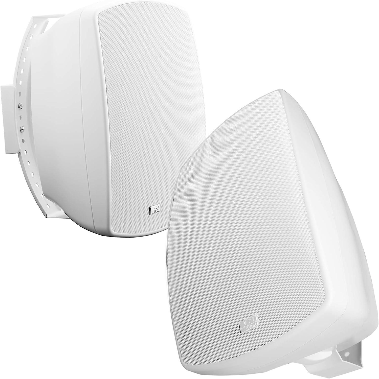 "OSD Audio 70V Commercial Patio Pro Speaker 5.25"" Indoor Outdoor IP65 Composite Cabinet White Pair AP525T"