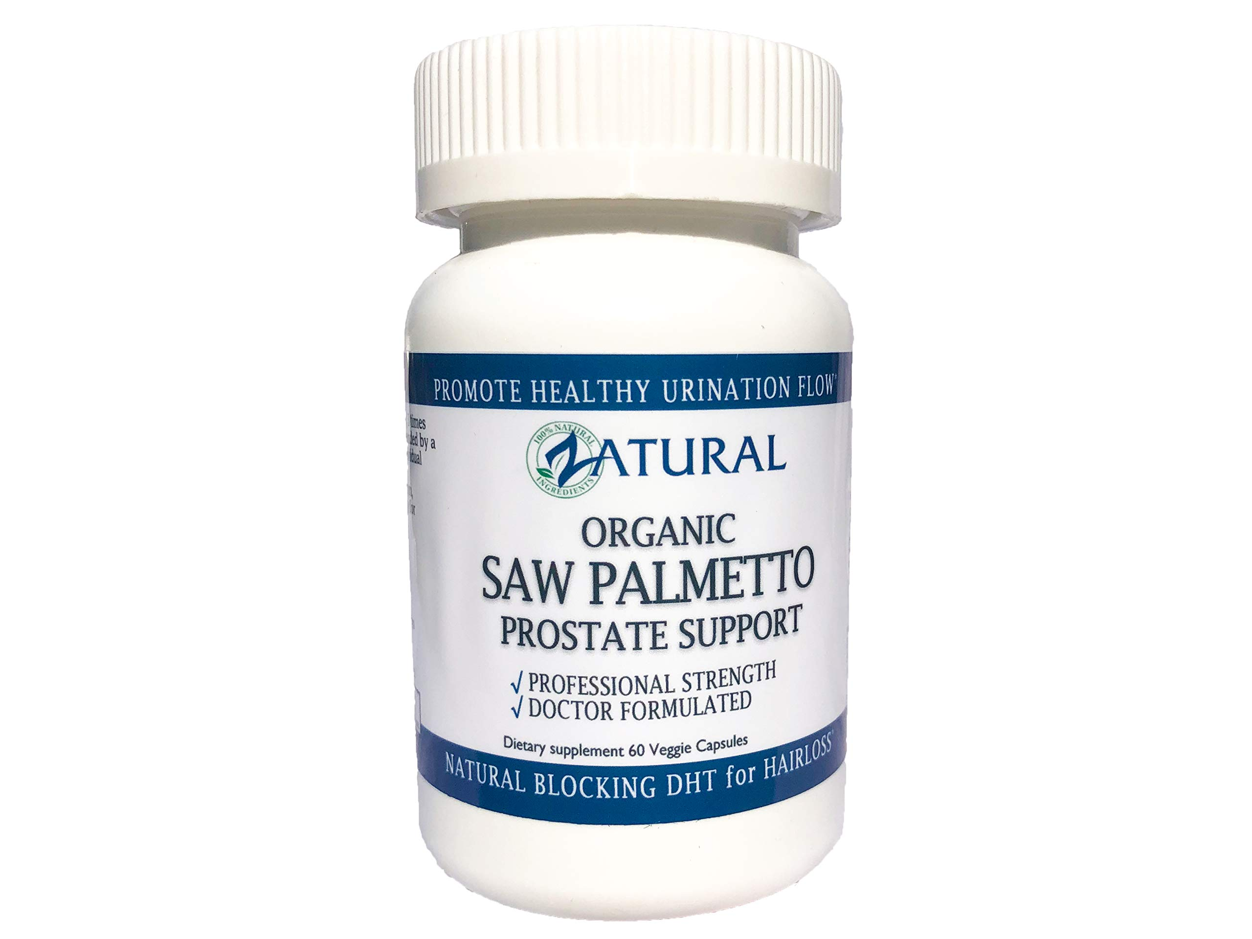 Organic Saw Palmetto Prostate Complex_Promote Healthy Urination Frequency & Flow_Naturally Blocking DHT_Professional Grade_905mg per Serving (1)