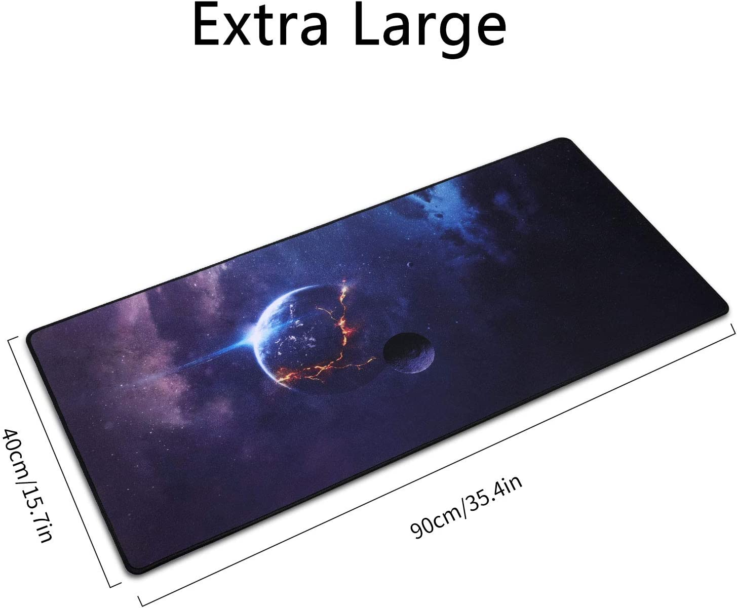 ICETEK Mouse Pad Large Extended 3mm Thick Waterproof Mouse Mat Gaming Wide Long Functional Non-slip Rubber Base Pink Gaming Mouse Mat