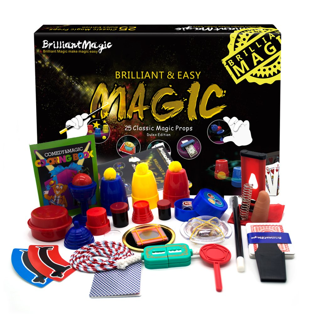 BrilliantMagic Magic Set Magic Kit for Kids Science Toys for Children Including 25 Classic Tricks Easy to Play Magic Best Gift for Boys Girls and Adult by BrilliantMagic