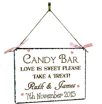 Amazon De Wandtafel Zum Aufhangen Hochzeit Vintage Candy Bar