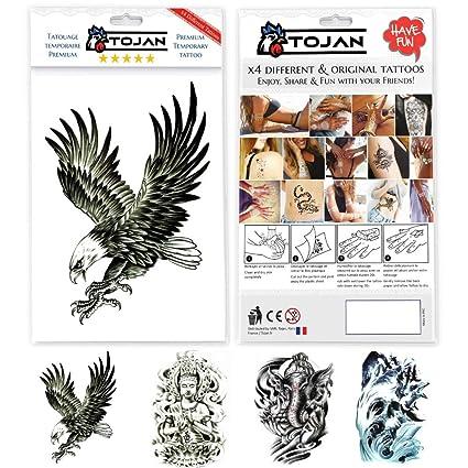 Tojan Tatuaje Temporal (Hombre/Mujer) / 4 Tablones (Elefante India ...