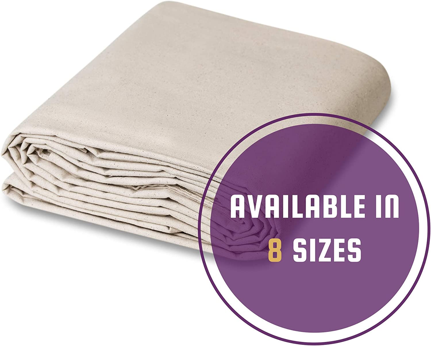 CCS CHICAGO CANVAS & SUPPLY All Purpose Canvas Cotton Drop Cloth, 4 by 50 Feet - -