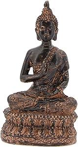 "Leekung Buddha Statue Home Decoration,Antique Meditative Buddah Statues,Altar Meditation Buddha Decor Maroon 6.5"""