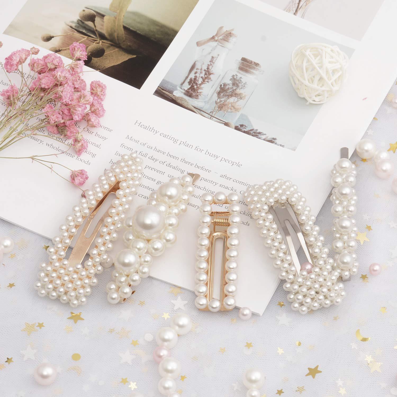 Best Quality Big Flower Pearl Hair Clip Slide Bridal Hair Handmade UK Seller 1st