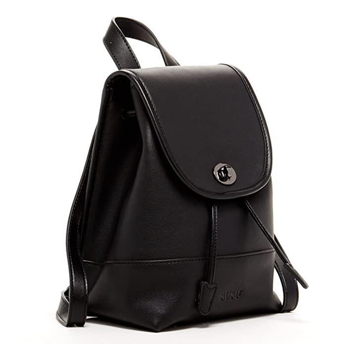 Black Small Leather Backpack Purse for Women Cute Fashion Backpacks Vintage  Style Back pack Girls Designer Handbags for Travel Flap Buckle Closure Bag  ... 25843a5ad259c