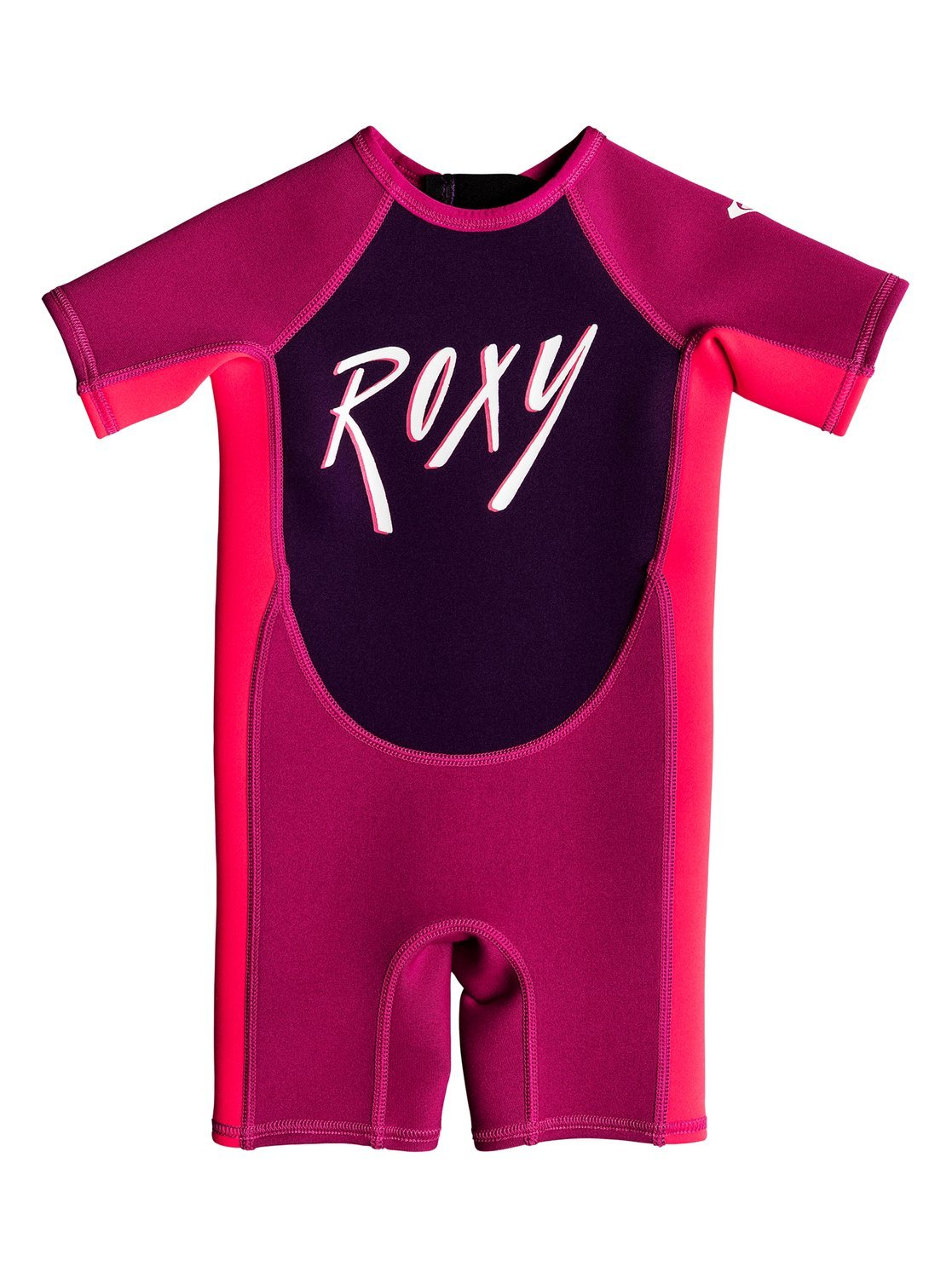 Roxy Baby-Girls 1.5Mm Syncro - Short Sleeve Back Zip Springsuit - Toddlers - 2T - Red Magenta/Vermillon 2T by Roxy