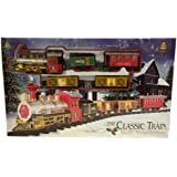 The Classic Christmas Train Set with Light and Sound of Tracks and Horn - Toy or around Christmas Tree
