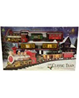 the classic christmas train set with light and sound of tracks and horn toy or - Christmas Tree Train Sets