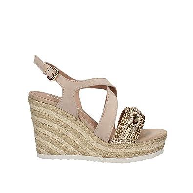CafèNoir HG551 196 scarpe Damens Sandale zeppe alte alte zeppe beige con 902d78