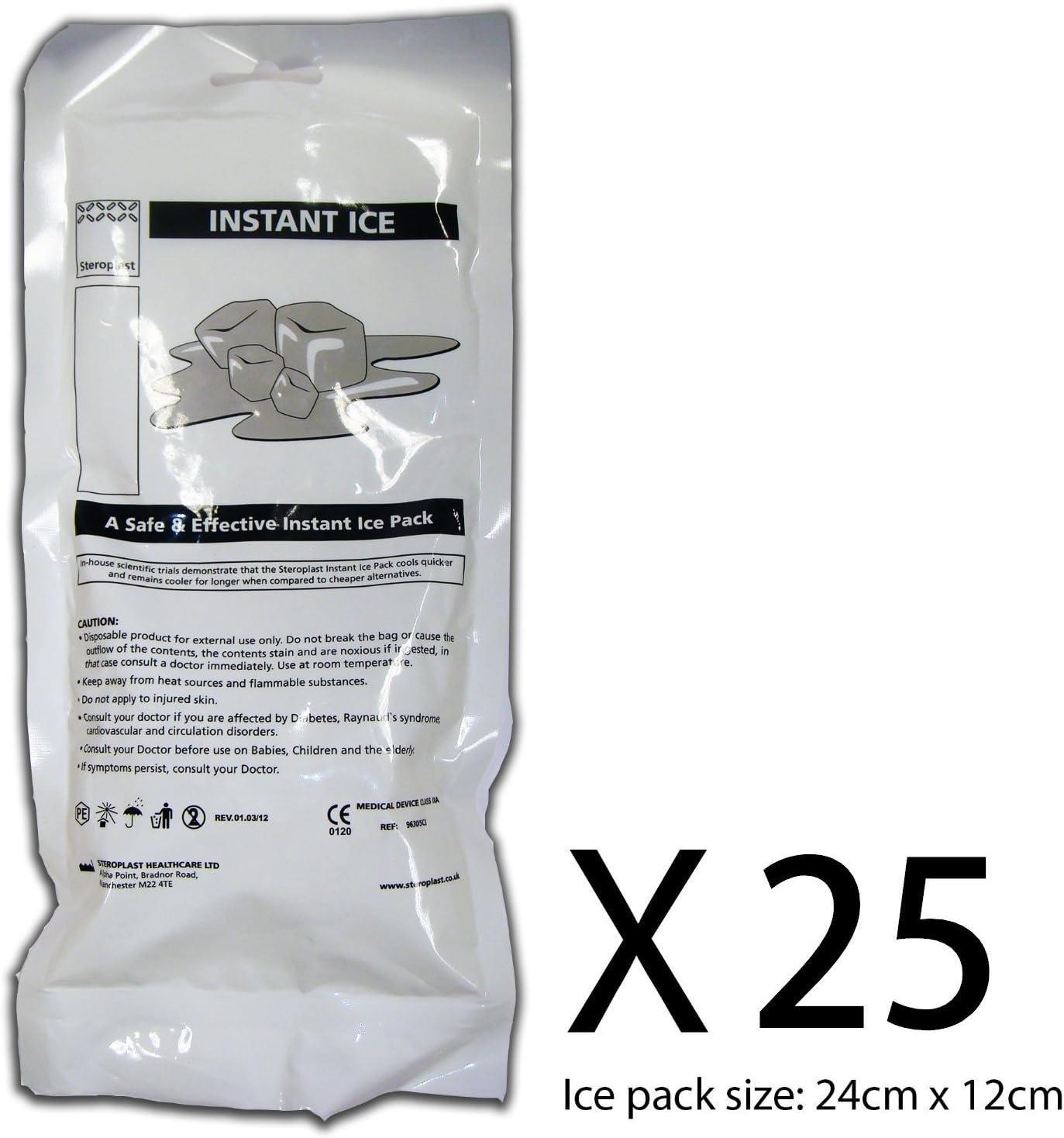 Bolsas de hielo instantáneo x 25 (desechables): Amazon.es ...