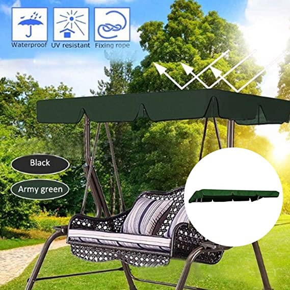 kaersishop Canopy de reemplazo Asientos Swing de 2 y 3 plazas, Cubierta de Polvo Impermeable para Jardines, hamacas de jardín para Exteriores (210 145, 5 Colores): Amazon.es: Jardín