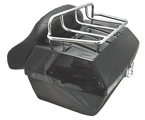 Baul rigido para moto custom de 48 litros de capacidad. Color negro brillo. Capacidad para un casco.: Amazon.es: Juguetes y juegos