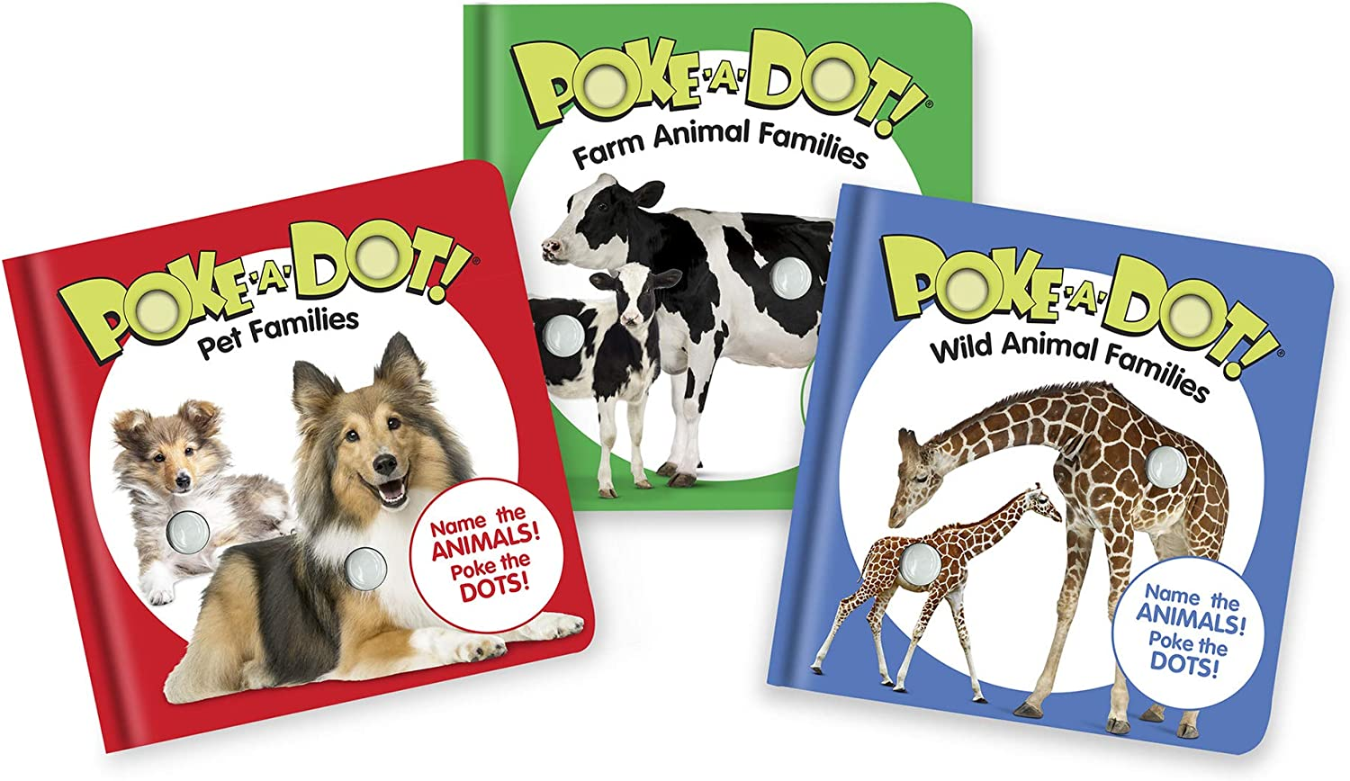 Melissa & Doug Children's Books 3-Pack - Poke-a-Dot Animal Families