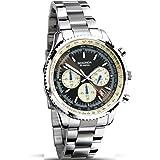 Sekonda Chronograph Black Dial Stainless Steel Bracelet Gents Watch 1081