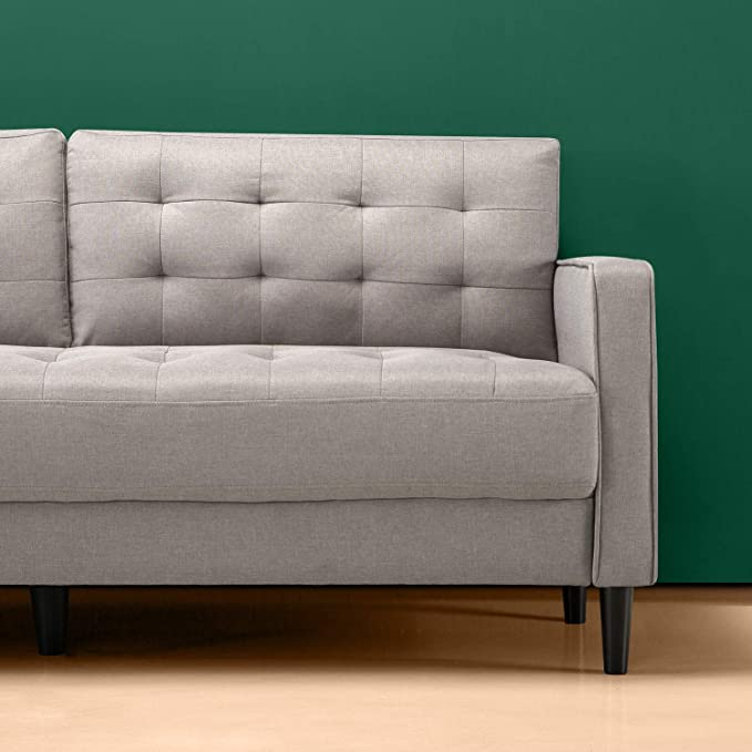 Amazon.com: Zinus - Sofá tapizado de mediados de siglo ...