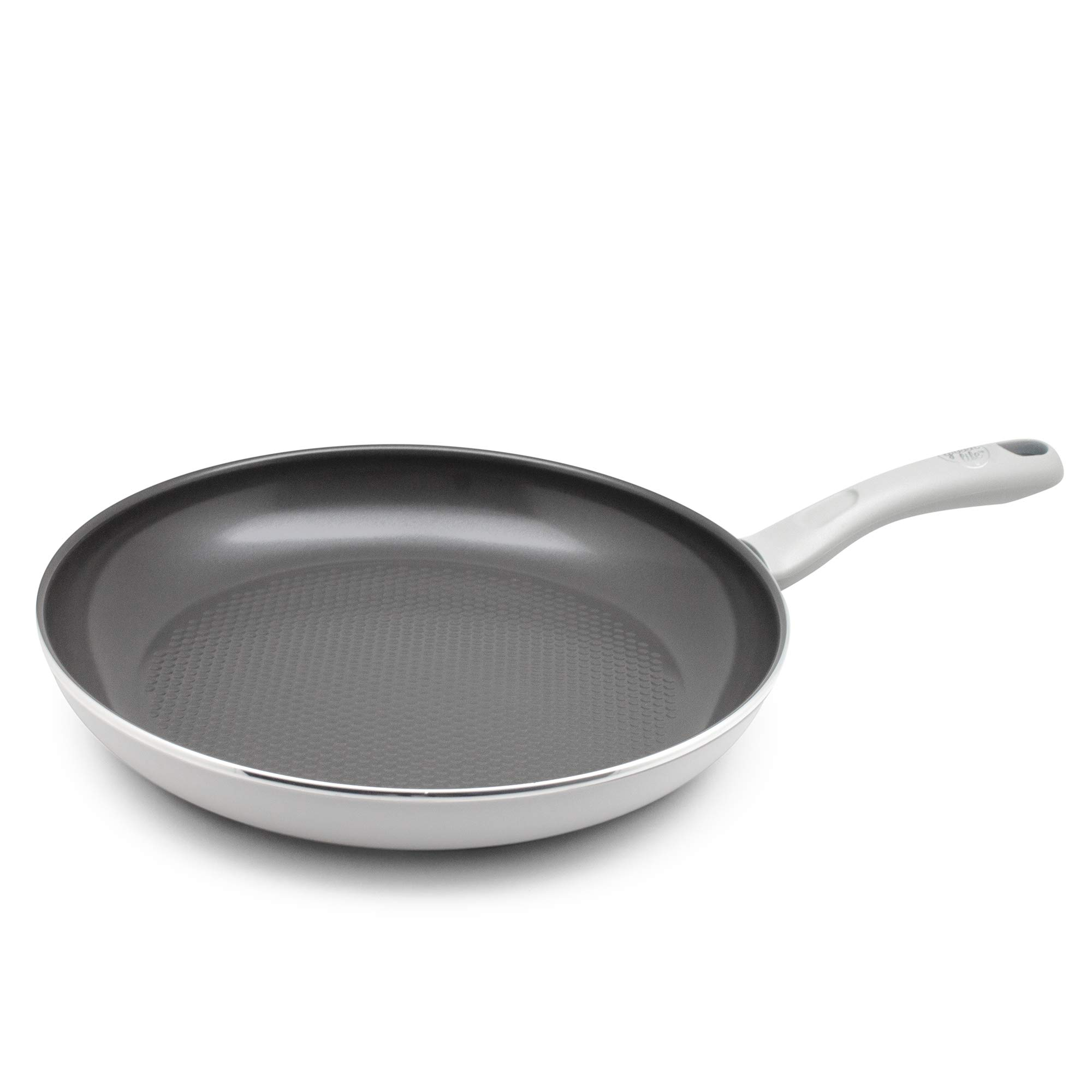GreenLife CC001721-001 Lift Healthy Ceramic Non-Stick Dishwasher and Oven Safe 12'' Open Frying Pan, Black