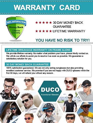 8265a2b485 Duco Men s Polarized Driving sunglasses Style Eyewear Fashion Rimmed Glasses  UV400 protection 8205  Amazon.co.uk  Clothing