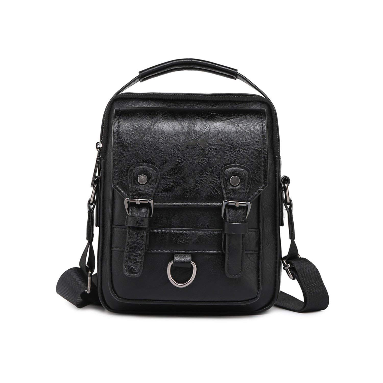 Men Handbags ManS Crossbody Shoulder Bag Large Capacity Leather Messenger Bag For Man Travel Cool,Orange