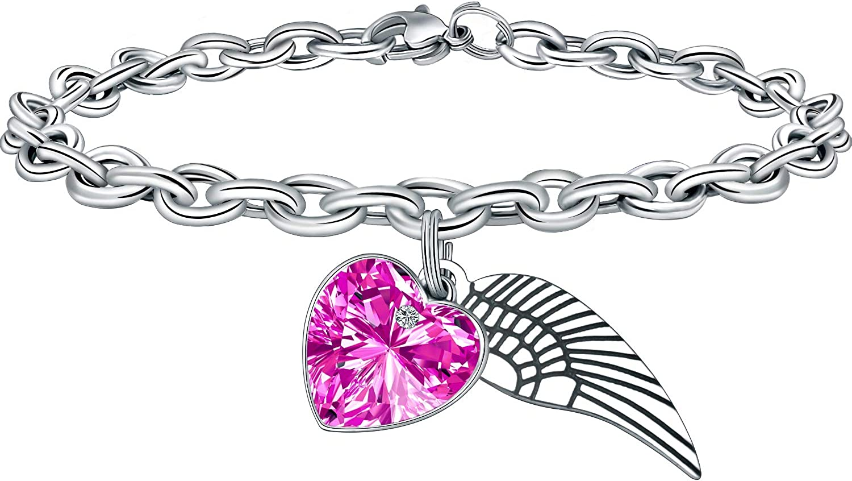 Unicorn Sparkly Crystal Charm Bracelet for Teen Girls Heart Charm Bracelets Gifts for Girls Birthday Jewelry