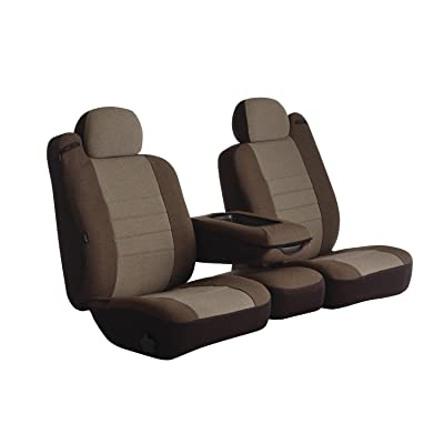 Fia OE37-34 TAUPE Custom Fit Front Seat Cover Bucket Seats - Tweed, (Taupe): Automotive