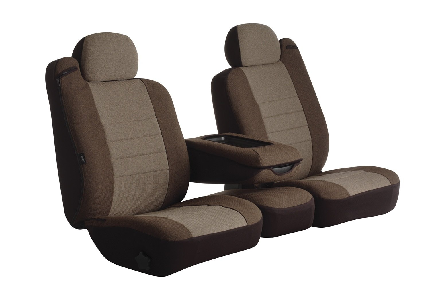 Fia OE37-35 TAUPE Custom Fit Front Seat Cover Split Seat 40/20/40 - Tweed, (Taupe)